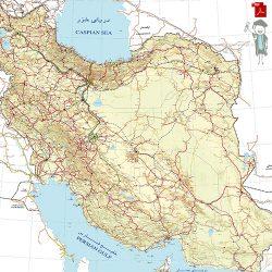 دانلود نقشه با کیفیت و اورجینال راه های ایران بصورت پی دی اف و با کیفیت بینهایت!